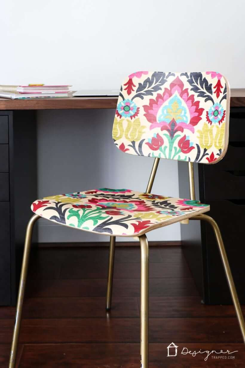 Upholstered Fabric Design Decoupage Furniture