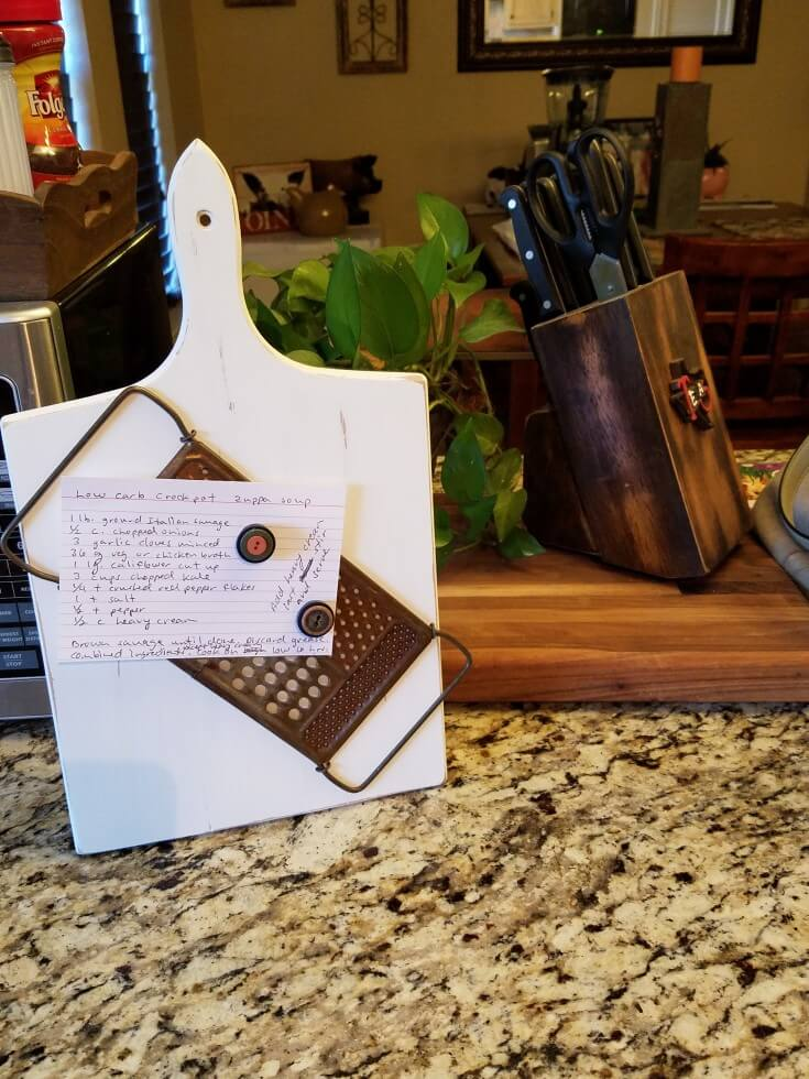 Rustic Recipe Holder Home Decoration