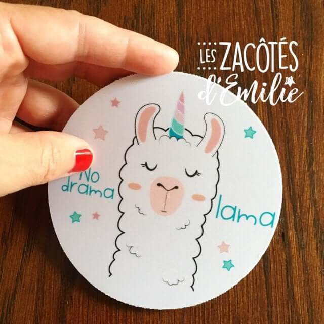 Llama's Front and Center Coasters