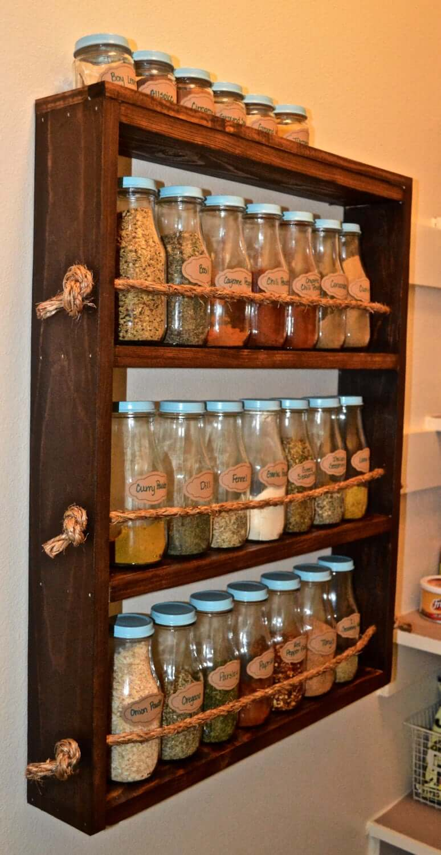 Custom Pallet Wooden Spice Rack