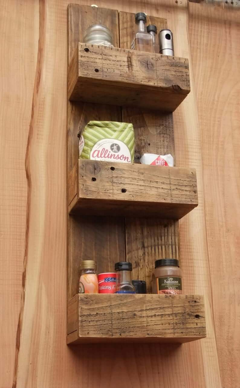 Reclaimed Wooden Home Storage Shelf