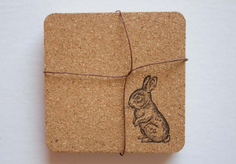 Cork and Bunny Stamp Waitin'to Hop