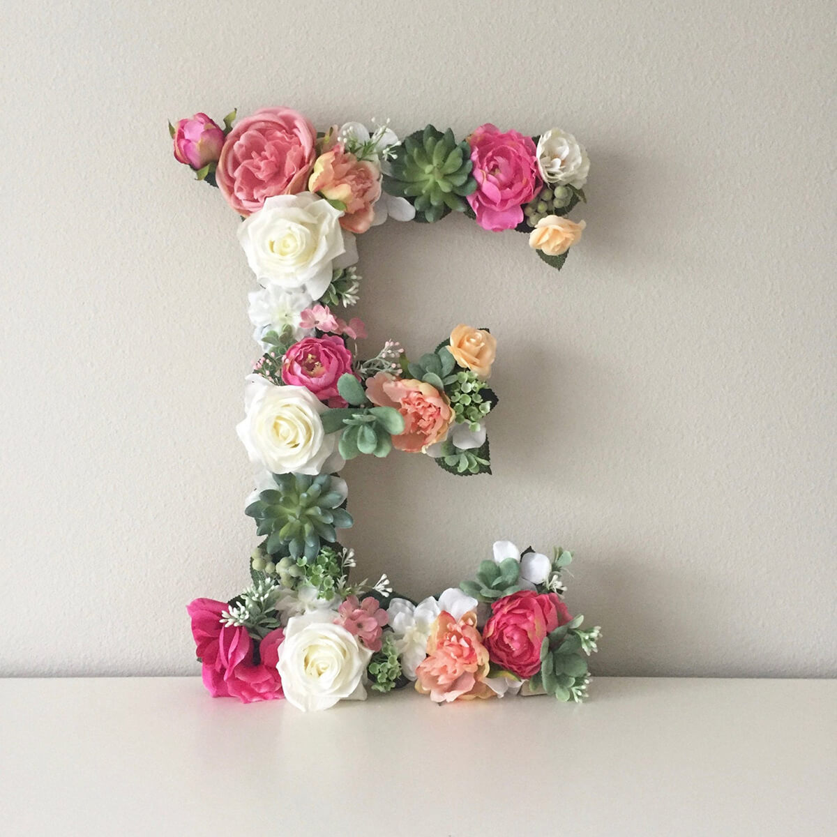 Plant Lady Succulent and Pink Floral Letter