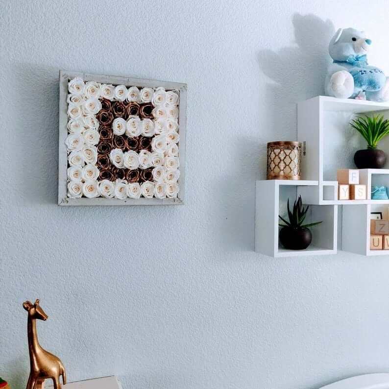 Flower Filled Initial Letter Wall Art