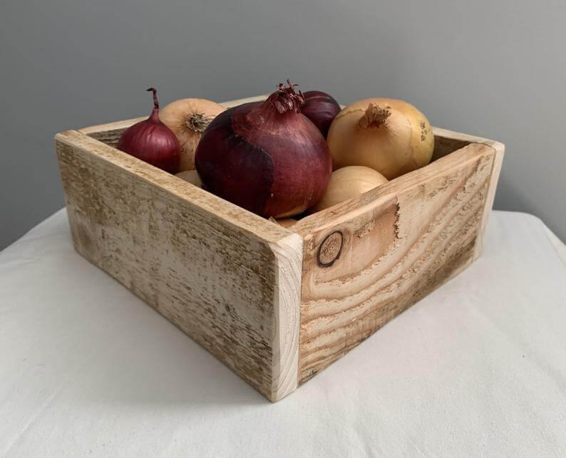Handmade Pallet Wood Kitchen Storage Box
