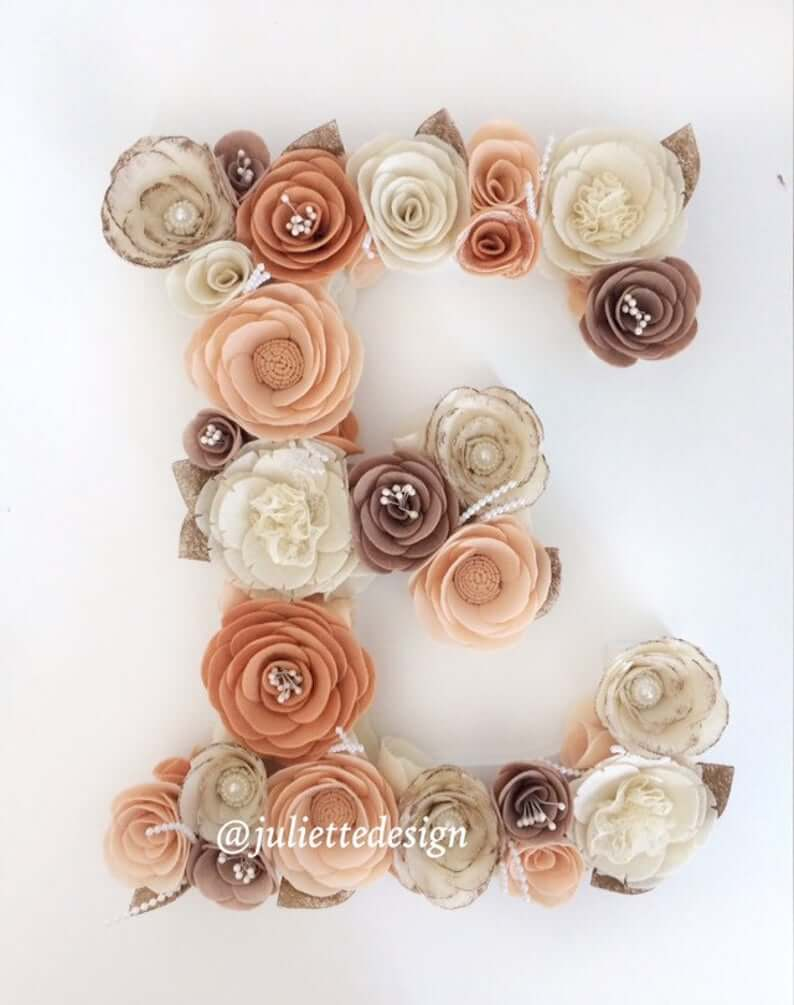 Brown Tones Abound in this Floral Letter