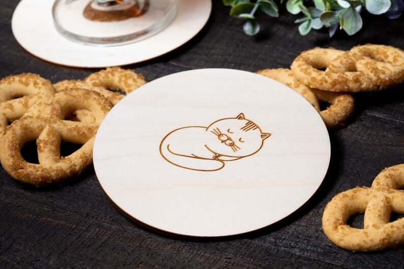 Cat Lovers Love Cat Coasters