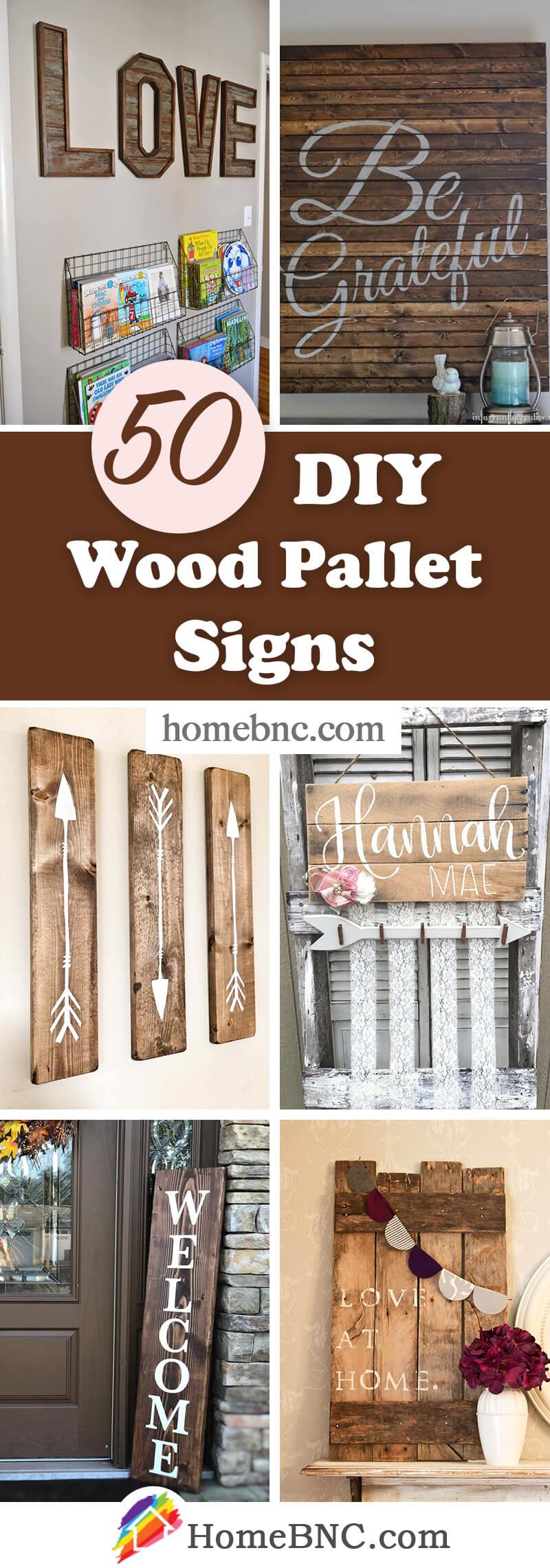 DIY Pallet Wood Signs