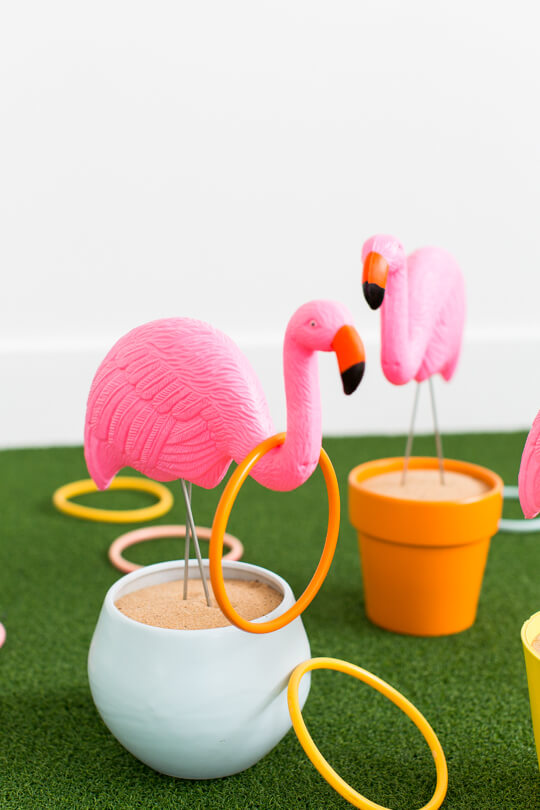 Passionate and Pink Flamingo Ring Toss DIY Game