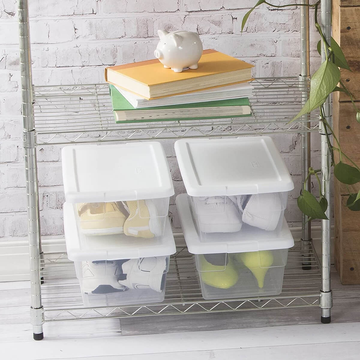 Clear Plastic Shoe Storage Bins