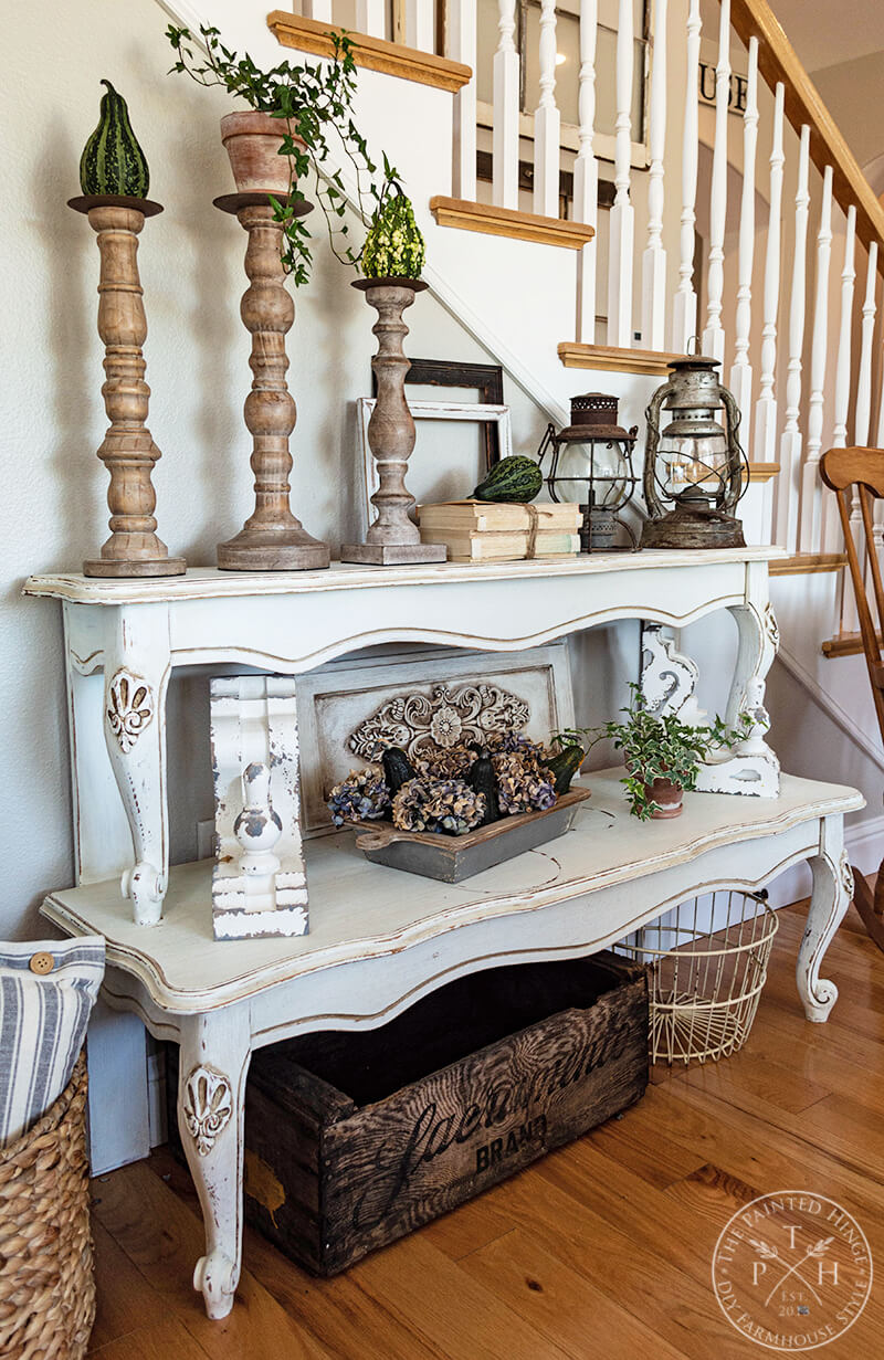 Rustic Shelves from Repurposed Coffee Table