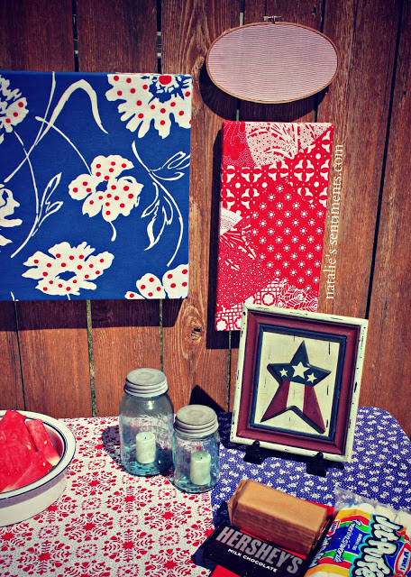 Vintage Farmhouse Style Independence Day Picnic Table