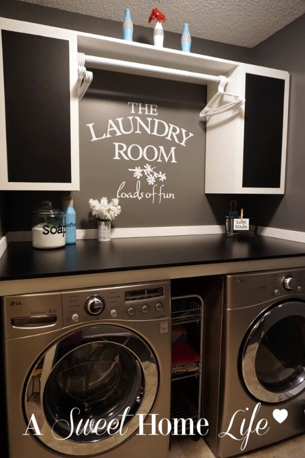 Vintage Laundry Room Vinyl Decal
