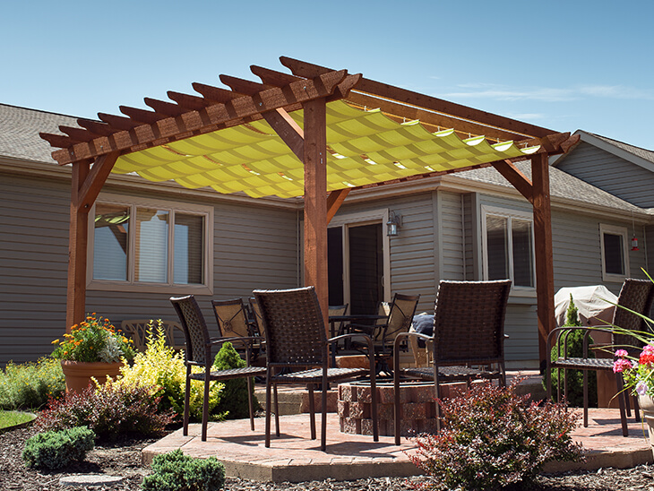 A Slide-On Wire-Hung Canopy for Your Pergola