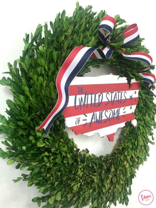 Fun Fresh Fourth of July Wreath