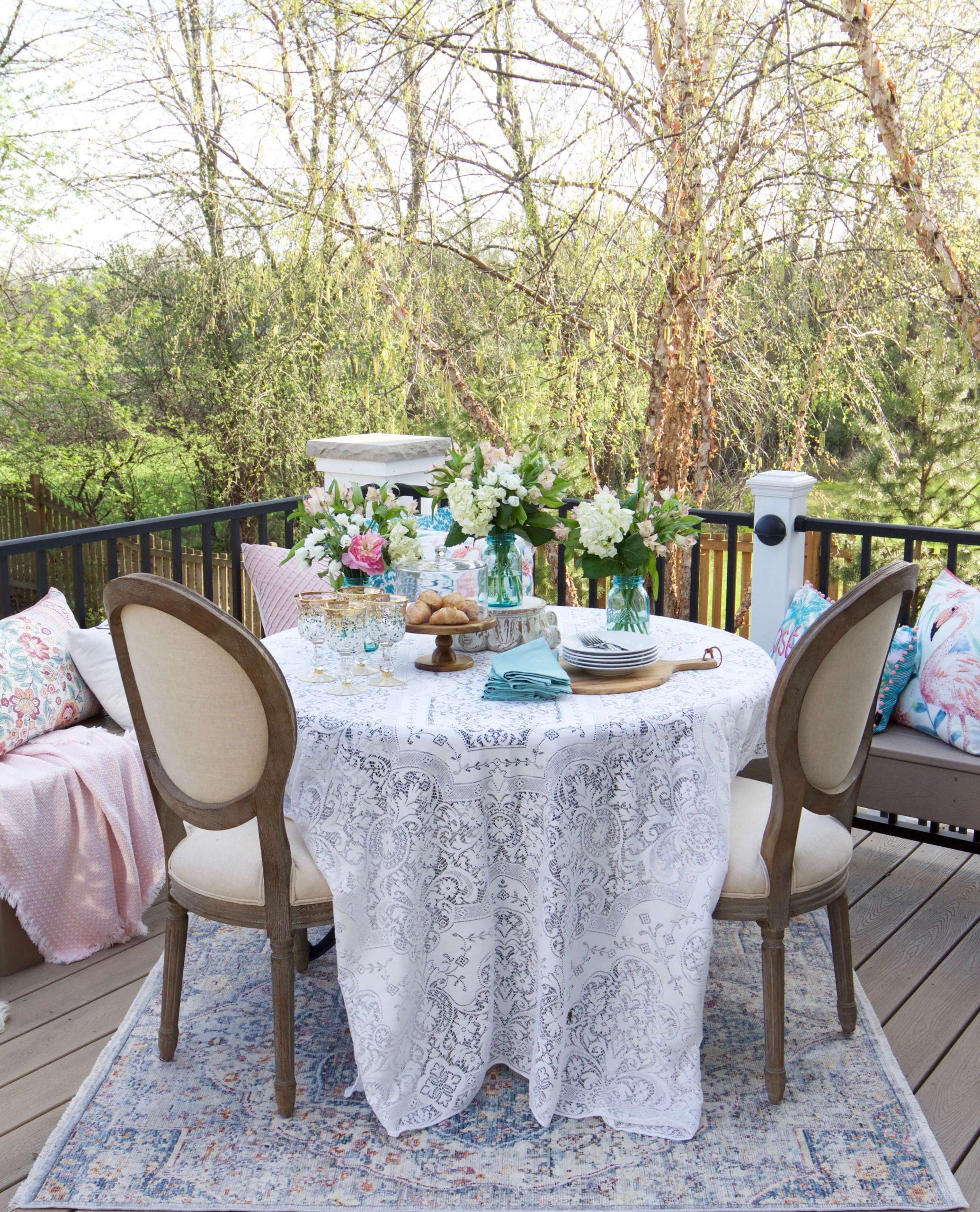 Elegant Balcony Dining Area is Satisfying
