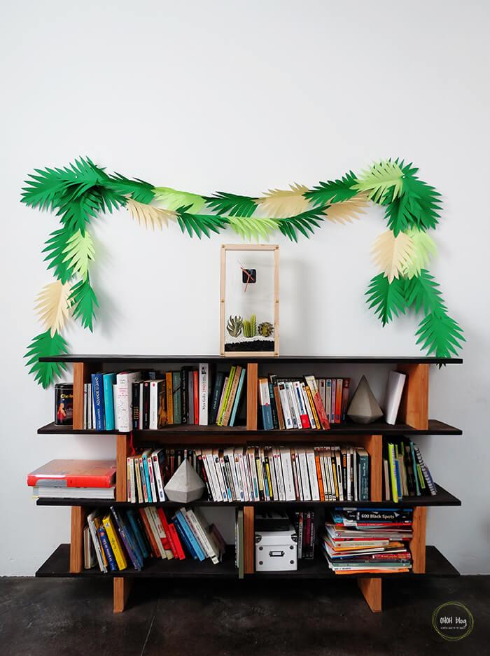 DIY Tropical Green Leaves Garland