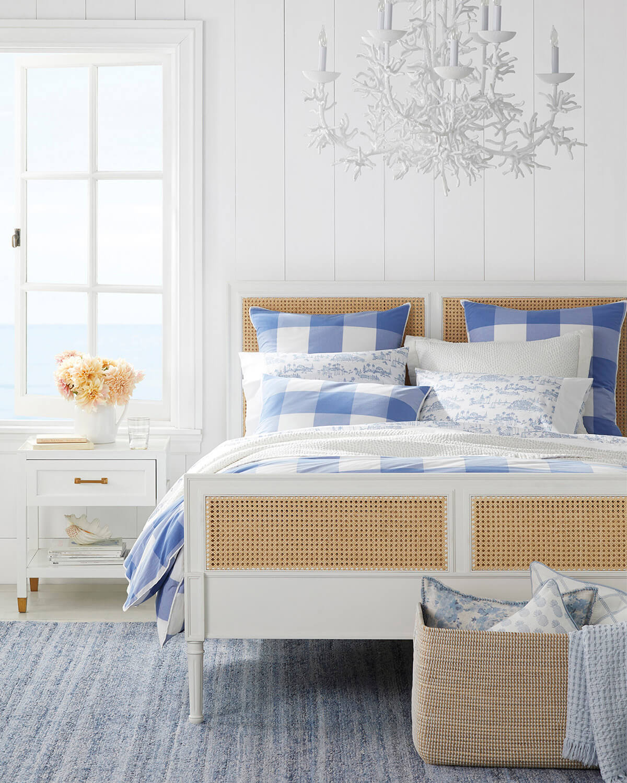 Blue and White Buffalo Plaid for a Cool Coastal Vibe