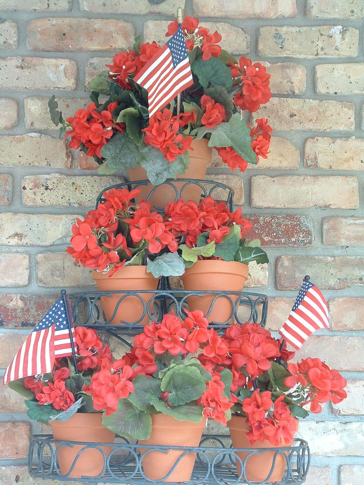 Patriotic Three-Tier Floral Arrangement