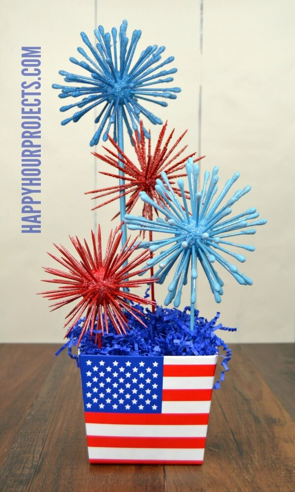 Quirky DIY Foam Fireworks with Household Objects