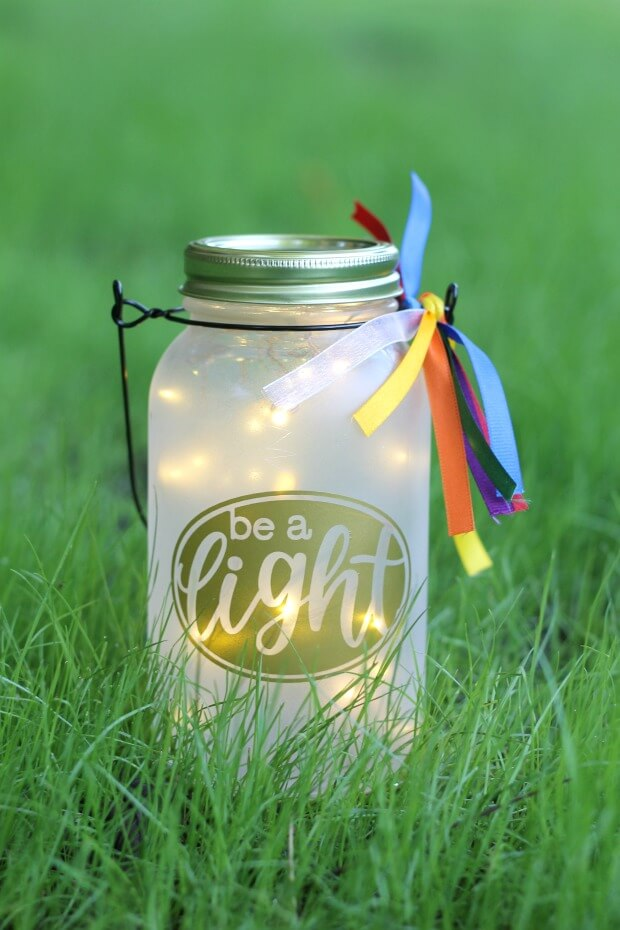 Inspirational Lighted Mason Jar Unique DIY Patio Light