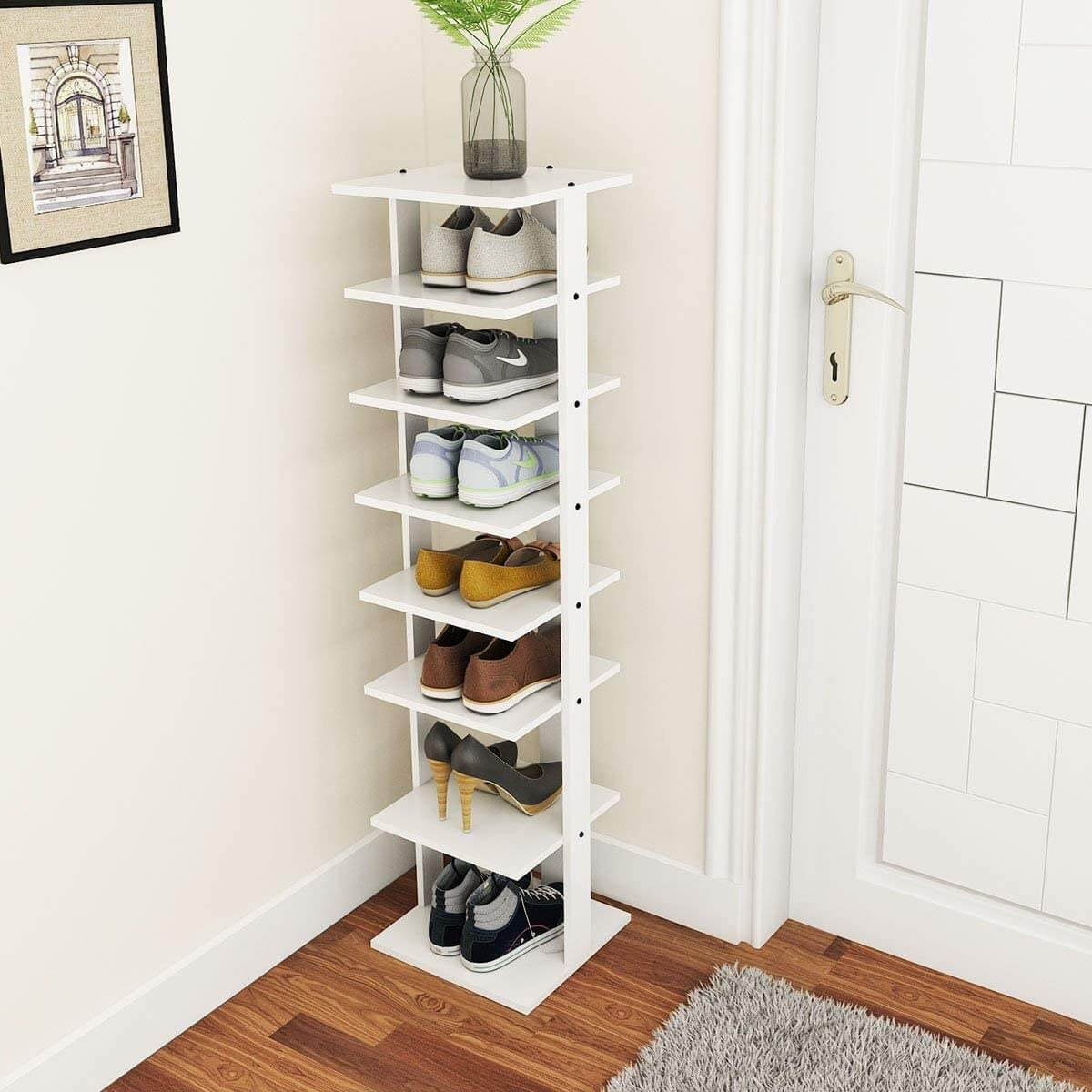 Seven-Tier Vertical Storage Rack