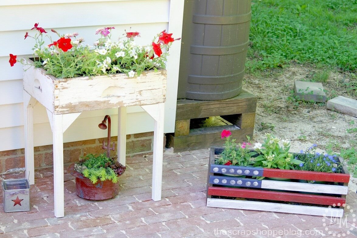 Shabby Chic Flower Planter Box