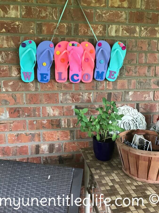 Colorful and Creative Flip Flop Welcome Sign