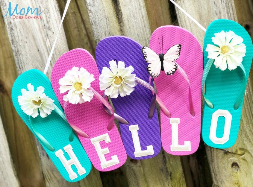 Brightly Colored Flip-Flop Wall Art
