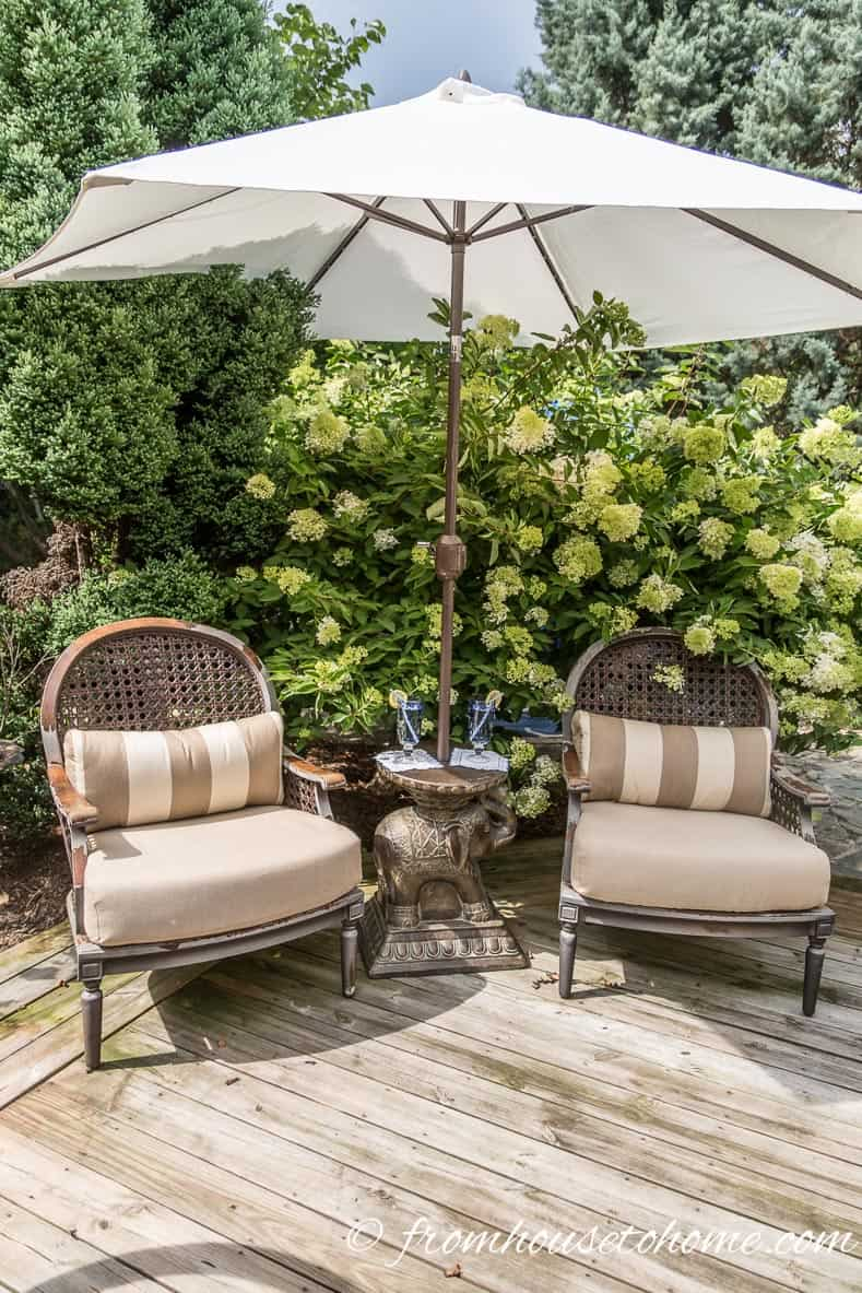 Lovely Seating Area in the Shade