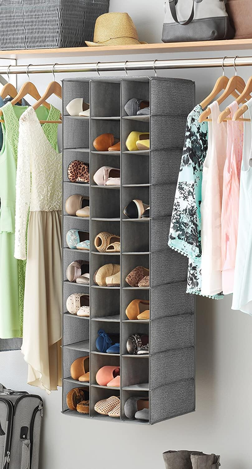 Hanging Shoe Organizer for 30 Pairs