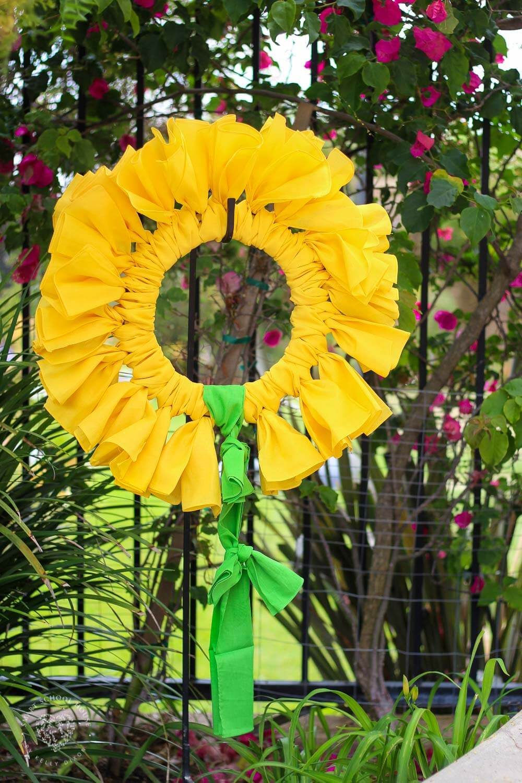DIY Bandana Summer Sunflower Wreath