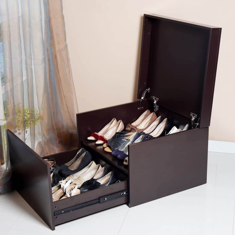Clutter-Free Shoe Storage Bench