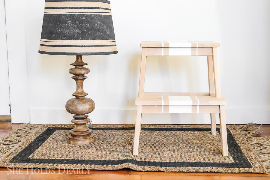 Portable Step Stool Display Shelf