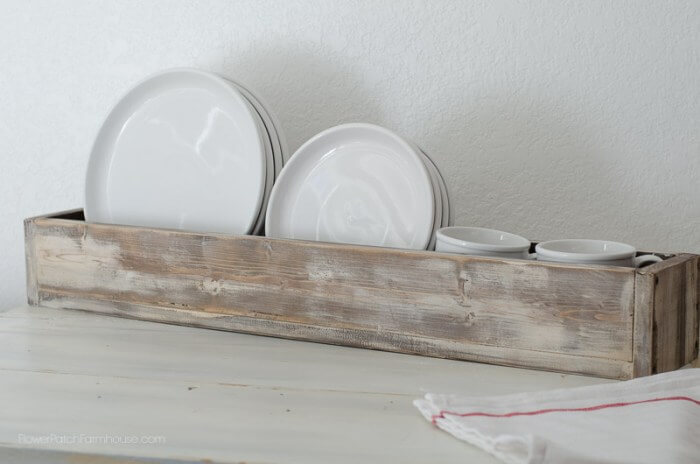 Farmhouse Old Wooden Dish Tray