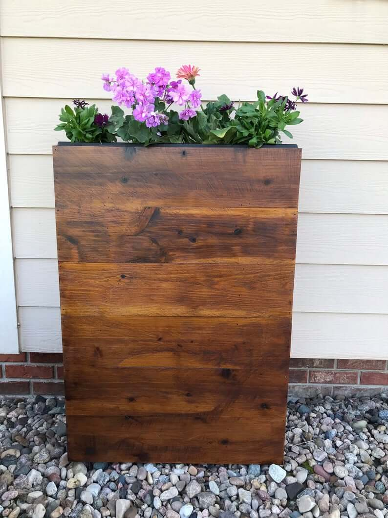 Slim Cedar Wood Planter Box