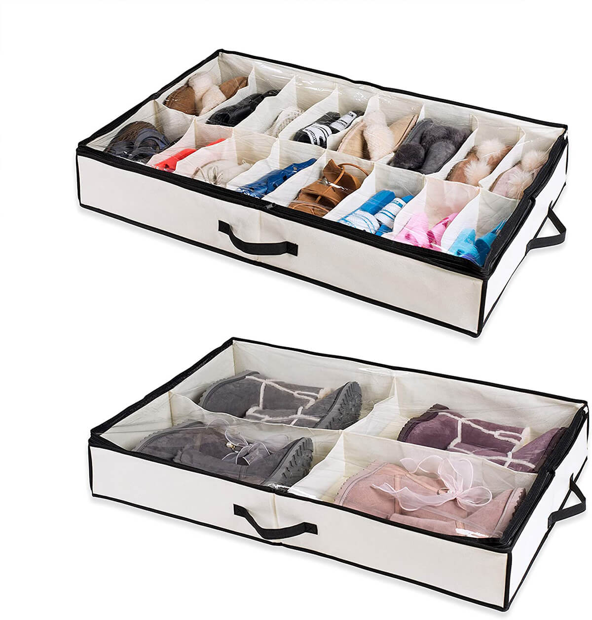 Under-Bed Shoe Drawer Organizers