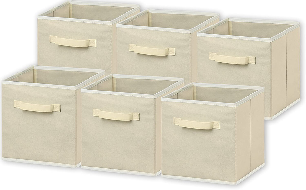 6-Pack Foldable Cloth Storage Cubes
