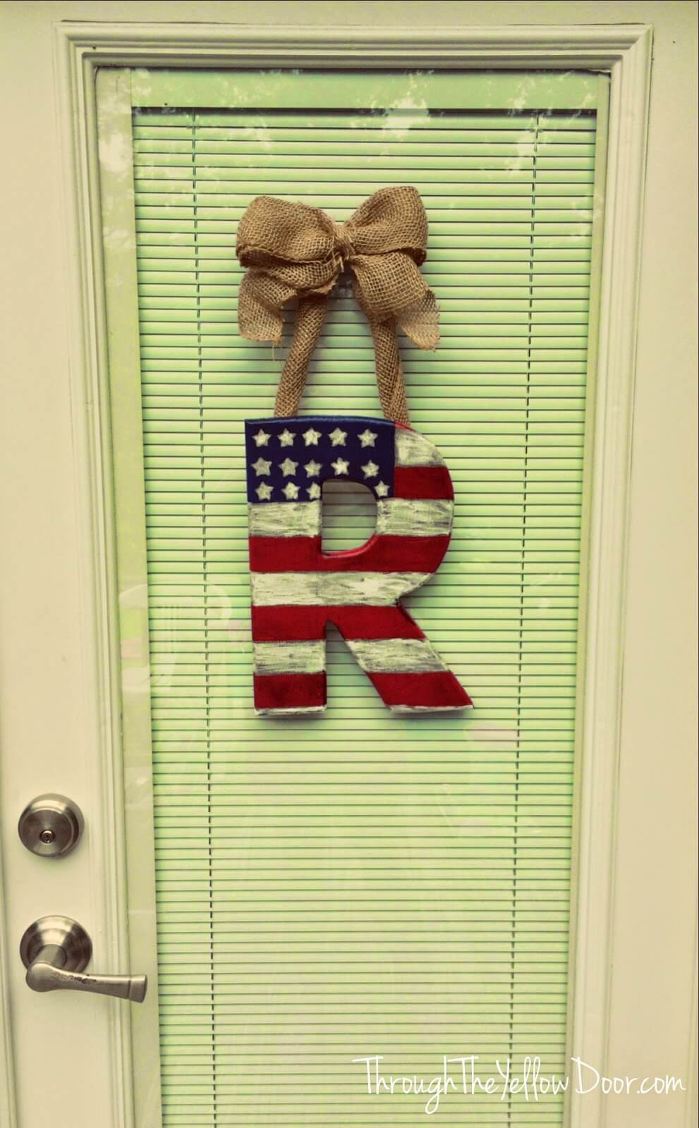 Patriotic Painted Wooden Letter DIY Rustic 4th of July Decoration