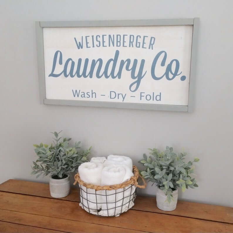 Hand Painted Wash, Dry, and Fold Sign