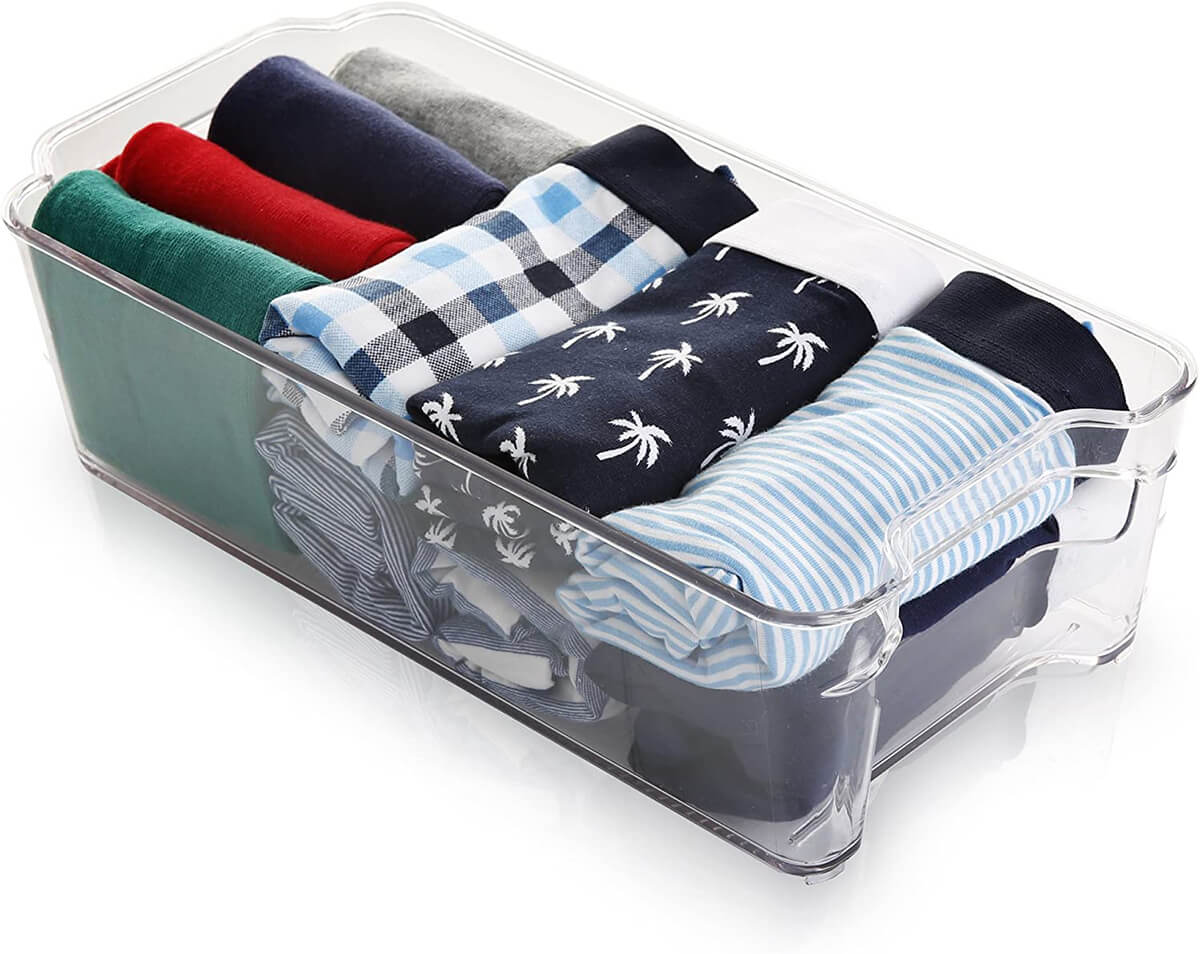 Stackable Plastic Organizer Storage Bins