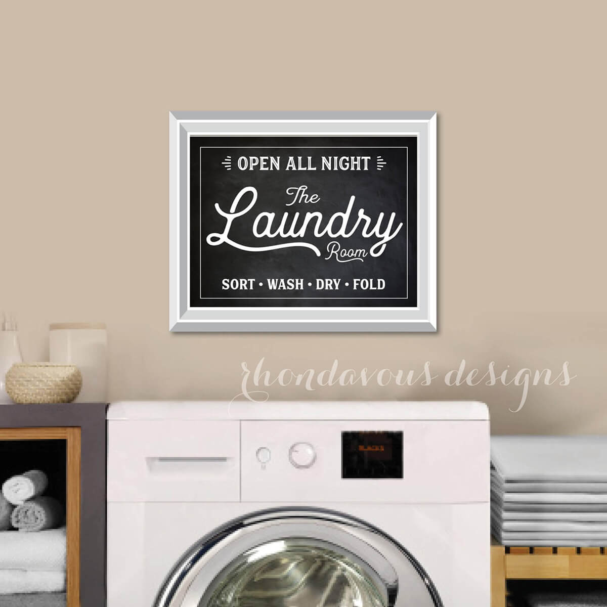 Open All Night Laundry Room Print