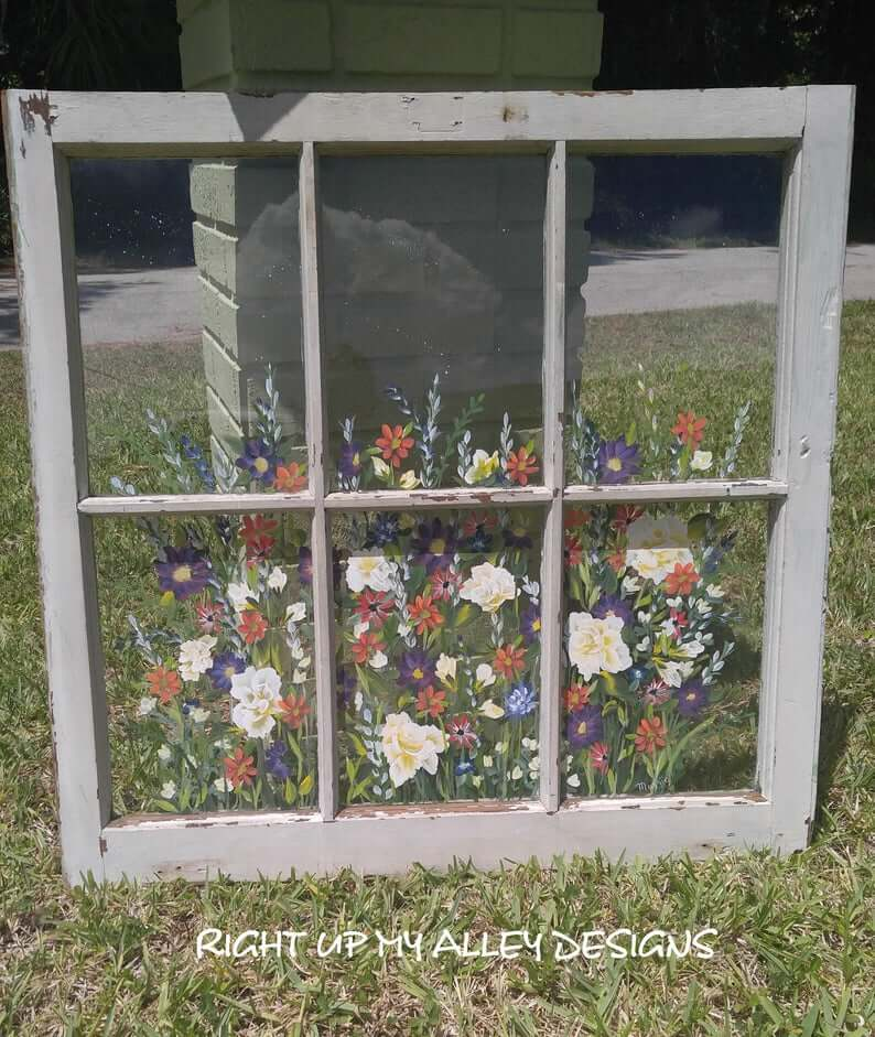 Charming Hand-Painted Repurposed Windows