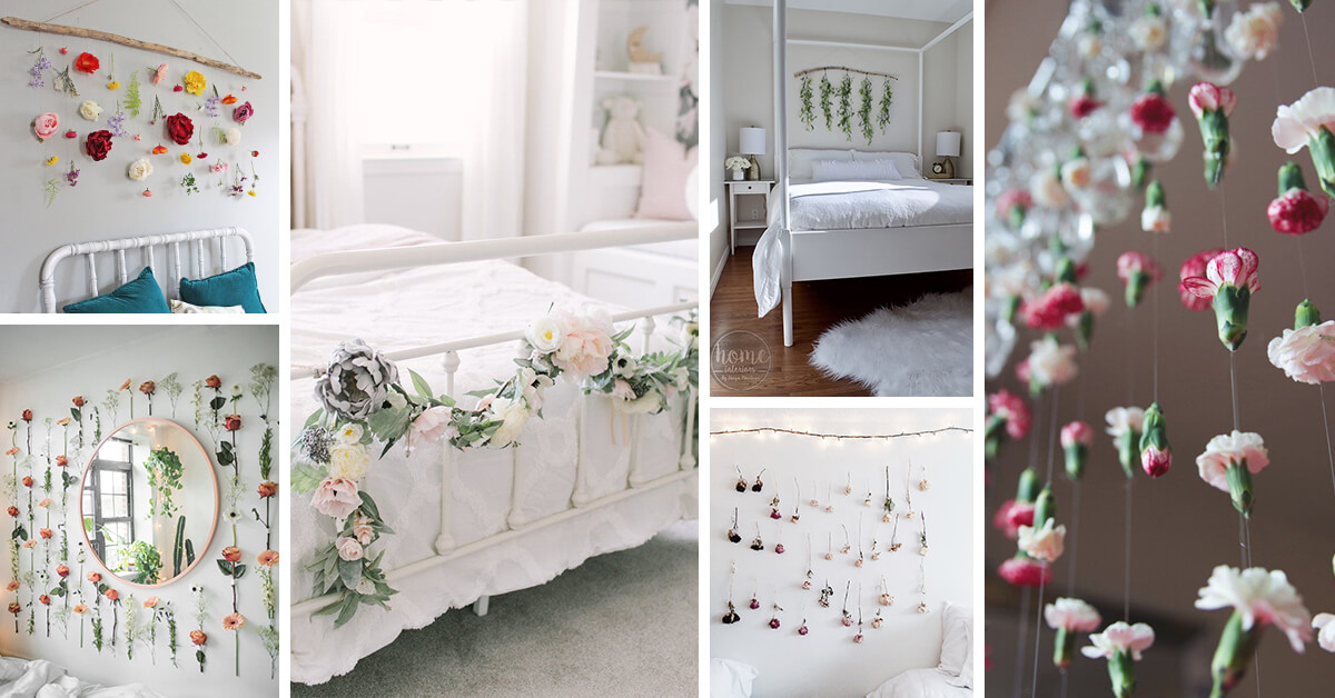 33 Best Bedroom Flower Garland Ideas For A Charming Space In 2021