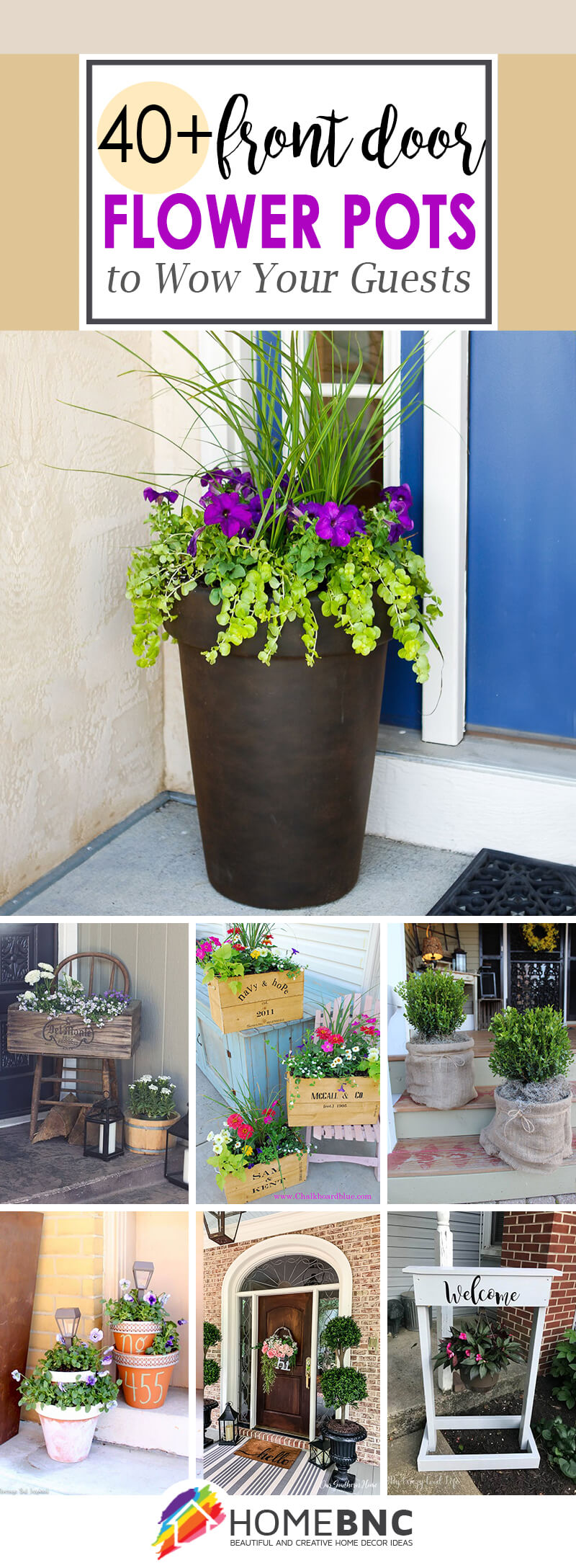 40 Best Front Door Flower Pots Ideas And Designs For 2021