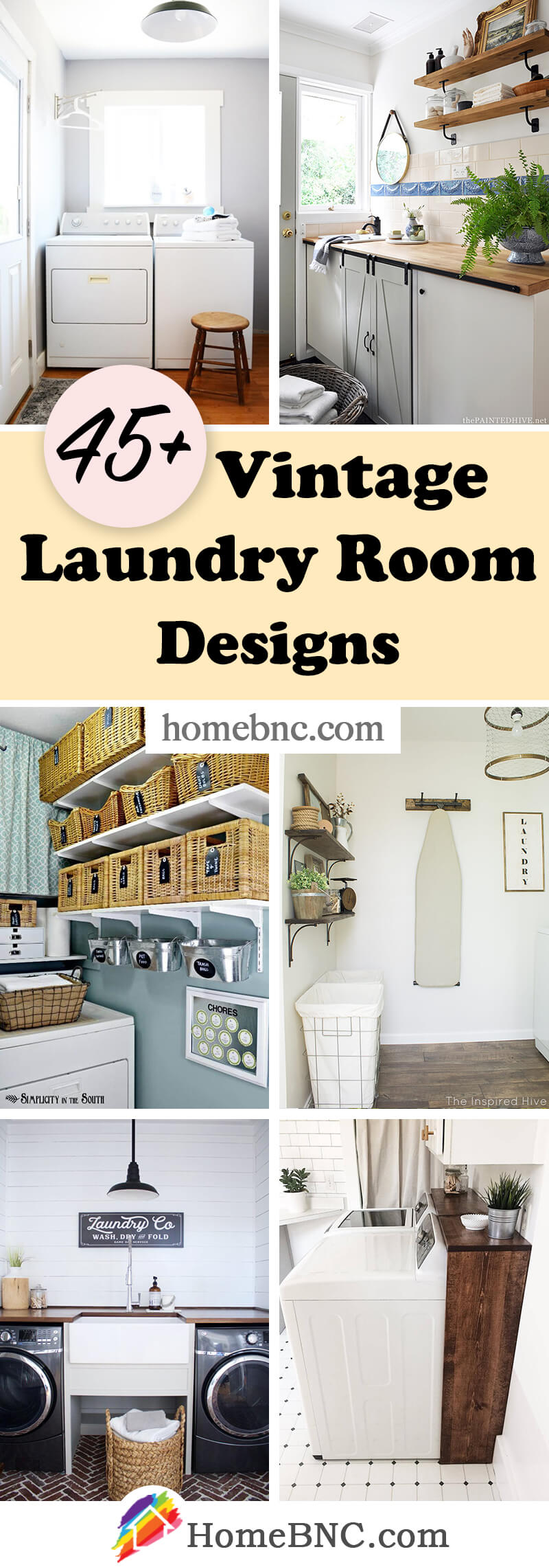 Vintage Laundry Room Designs
