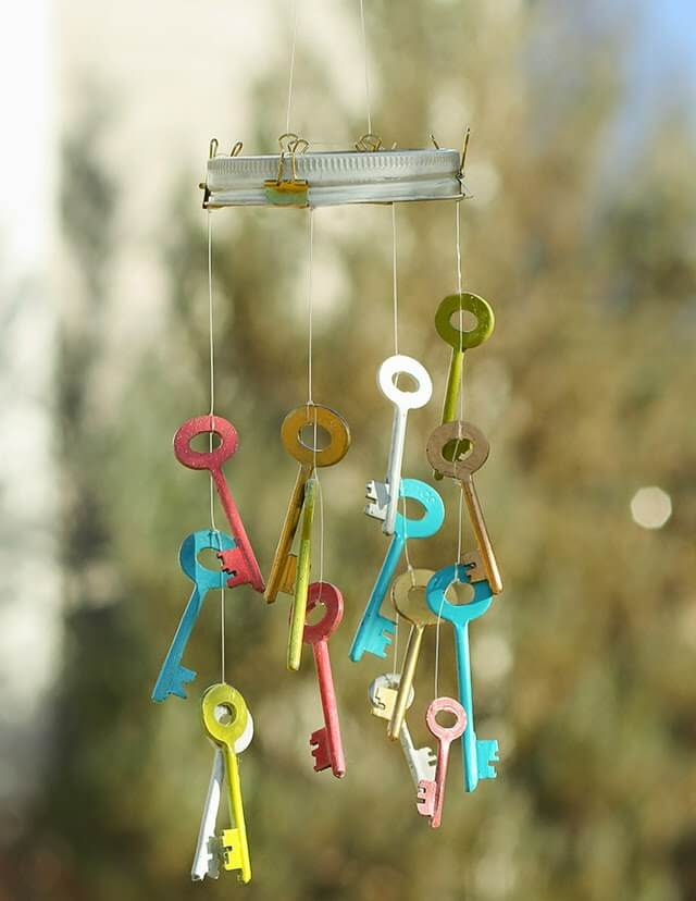 Cute Porch Wind Chime in the Key of Whimsy
