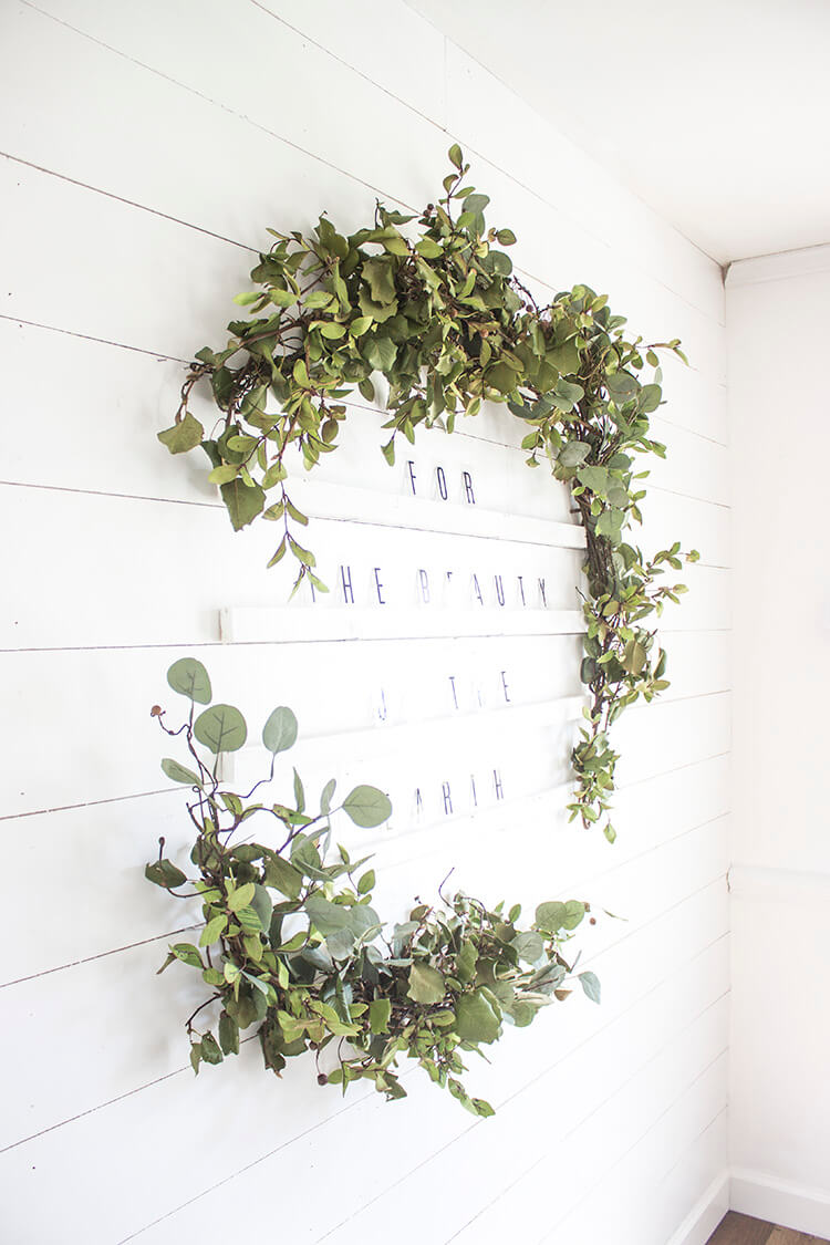 Oversized Letter Board Holiday Wreath