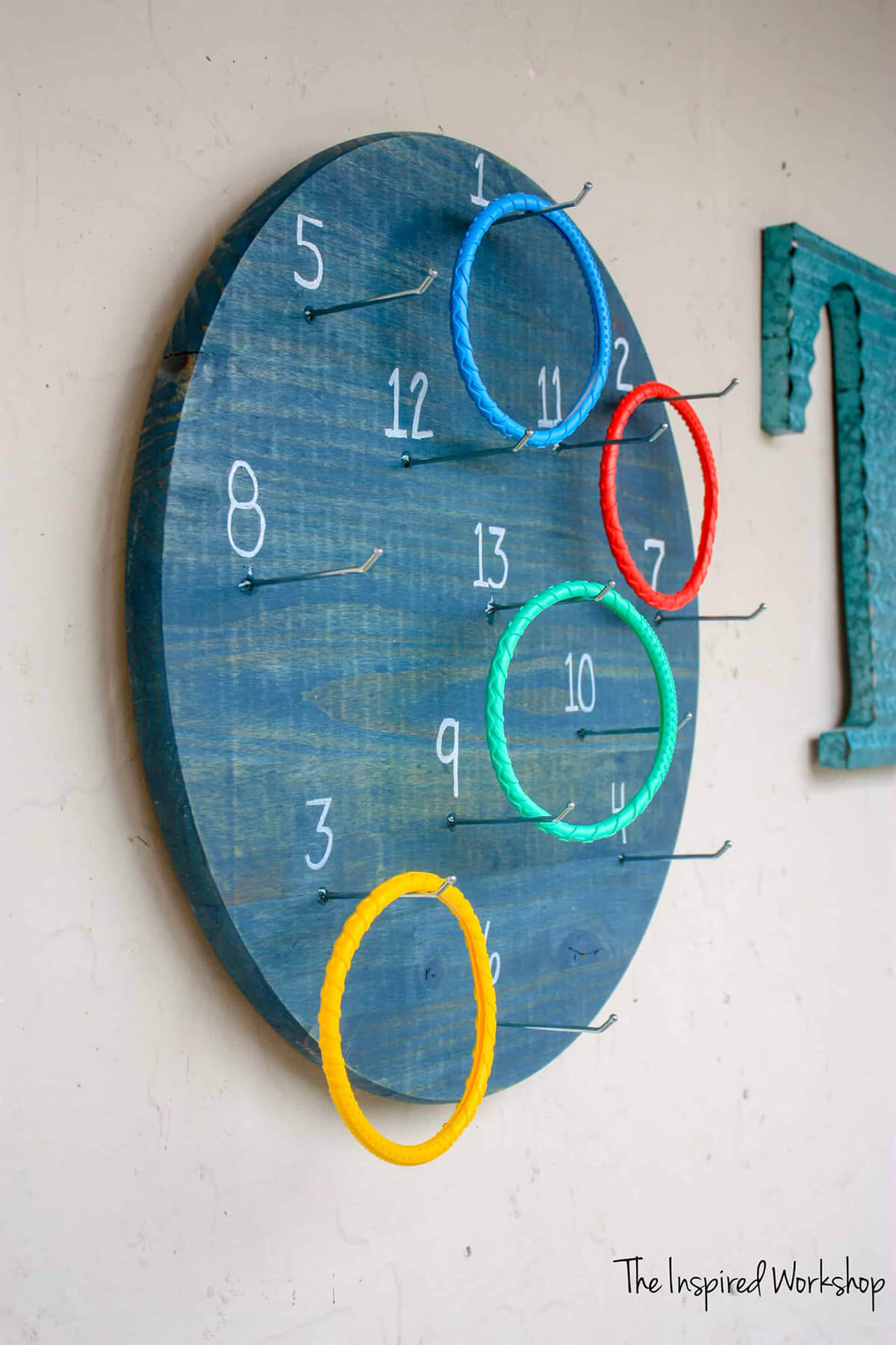 Wall Mounted Ring Toss Challenge