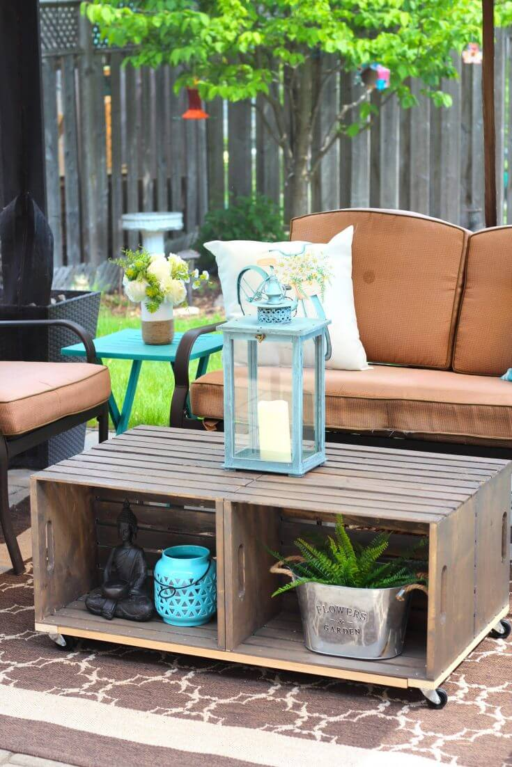 Outdoor Coffee Table with Storage Space